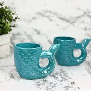 New! Blue Mermaid Tail Mug